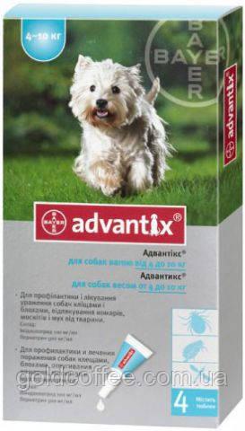 ADVANTIX (Адвантікс) від бліх та кліщів для собак 4-10 кг піпетка