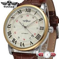 Механические наручные мужские часы Winner Cartier с автоподзаводом
