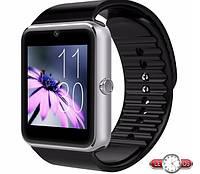 Умные наручные часы GT08 Silver, часофон с sim картой и камерой