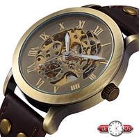 Механические наручные винтажные часы скелетоны Winner Vintage