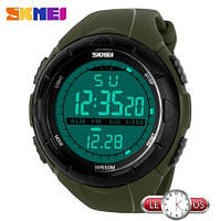 Мужские наручные електронные часы Skmei Dive Green