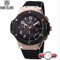 Шикарные мужские кварцевые часы Megir Vip Style хронограф