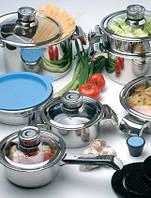 """Набор посуды 16 предметов """"Invico"""" с термодатчиками 1112374 BergHOFF"""