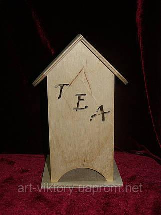 Домик для чайных пакетиков (заготовка) TEA (10 х 10 х 23 см), фото 2