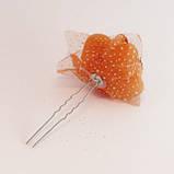 Шпилька для волос металл Розочка силикон-10 шт.- 6,5 см., фото 2