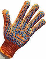 Перчатки рабочие Корона 5611 с ПВХ точкой (прочные)