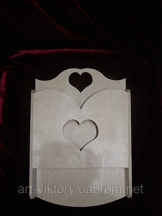 Ключница с карманом сердечко, фото 2