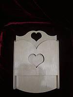 Ключница с карманом сердечко