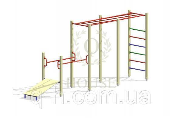 Комплекс гимнастический с рукоходом к 7-1, фото 2