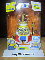 Фигурка Миньон король Боб Minions Movie Action Figure British Invasion King Bob