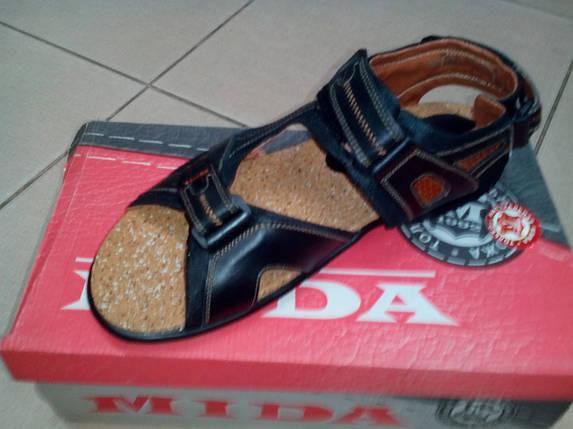 Мужские спортивные сандалии, кожа MIDA черные., фото 2
