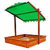 Детская песочница деревянная с крышей SportBaby, фото 2
