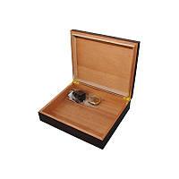 Хьюмидор 09453 для 12 сигар, коричневый, орех, 26х22х6 см