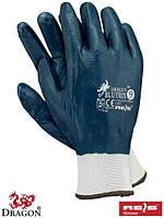Защитные перчатки, изготовленные из полиэфира, покрытые нитрилом, с резинкой BLUTRIX N