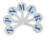 Набор букв (веер), английский алфавит