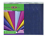 Пленка самоклеящаяся, 3 листа  ''Блеск'' (36смx50см) кулек, фиолетовый