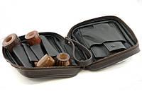 Сумка 33207 для 4-х трубок экокожа, темно-коричневая