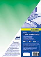 Обложка прозрачная А4 180мкм, (1шт.), зеленая