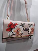 Модный клатч с розами сум11374, фото 1