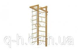 Стенка шведская с турником, кольцами и лестницей малая