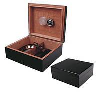 Хьюмидор 09487 для 25 сигар, черный + набор, 26х22х11 см