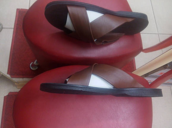 Мужские кожаные шлепанцы TIBET., фото 2