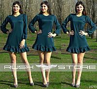 Свободное платье с рюшами
