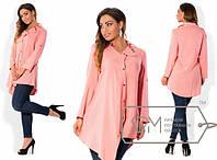 Модная легкая женская блуза туника, размеры 48, 50, 52, 54