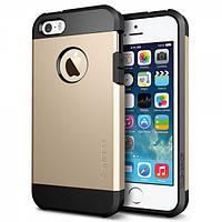 Бампер для iPhone 4/4S - SGP Slim Armor, золотистый