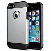 Бампер для iPhone 4/4S - SGP Slim Armor, серебристый