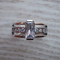Серебряное кольцо с фианитами, 9 камней, фото 2