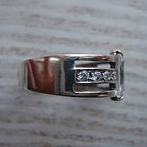 Серебряное кольцо с фианитами, 9 камней, фото 3