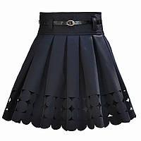 Школьная юбка с перфорацией для девочки. Лазер.