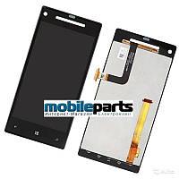 Оригинальный дисплей (модуль) + сенсор (тачскрин) для HTC Windows Phone 8x | C620e (черный)
