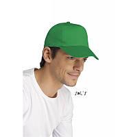Бейсболки, кепки зеленые SOL'S BUZZ под нанесение логотипа, фото 1