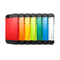 Бампер для iPhone 5/5S/SE - SGP Slim Armor (разные цвета)