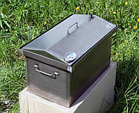 Коптильня 520х300х310 Крышка Домиком с термометром, фото 1