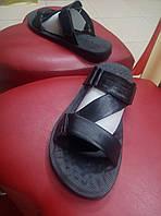 Мужские кожаные шлепанцы TIBET чёрные 50/1, фото 1