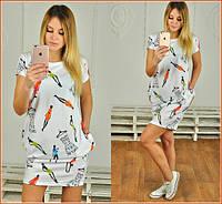Женское платье с карманами ч-40125