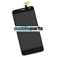 Оригинальный Модуль (сенсор + дисплей) для Alcatel OT6012D/OT6012X (Черный) с Рамкой