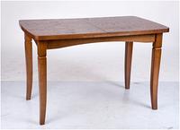 Стол обеденный раскладной  из дубового шпона  Леон, орех