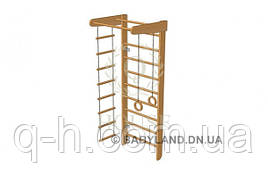 Стенка шведская с турником, кольцами, канатом и лестницей большая