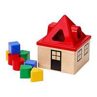 IKEA MULA Коробка д/головоломки,сортер, разноцветный