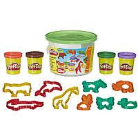 Набор пластилина Play-Doh Мини ведерко Зоопарк