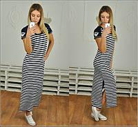 Длинное платье в полоску q-40136