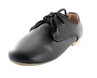 Стильные чёрные кожаные туфли