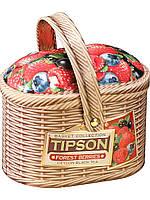 """Чай черный Типсон """" Лукошко"""" Лесные ягоды 100 г"""