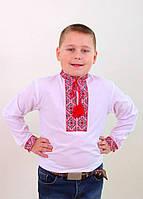Детская вышитая рубашка красным крестиком