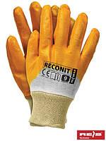Защитные рукавицы, покрытые нитрилом, завершенные трикотажной резинкой RECONIT BEP