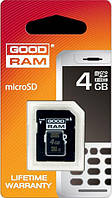 Карта памяти GoodRAM Micro SDHC 4GB class 4 + SD адаптер